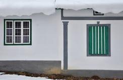 Дом и окна Стоковое Изображение