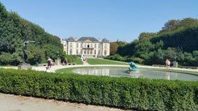 Дом и сад музея Rodin стоковые изображения rf