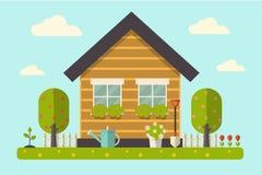 Дом и сад Стоковая Фотография RF