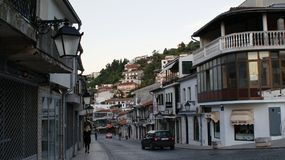 Дом и улица в Косове стоковое фото rf