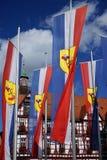 Дом и флаги Стоковое Изображение