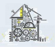 Дом иллюстрации инструментов и механизмов Стоковая Фотография