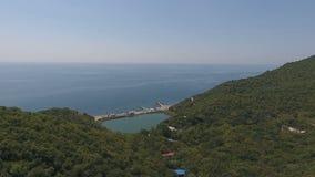 Дом йоги в горах, Чёрного моря, гор, Кавказа, Abrau-Dyurso сток-видео