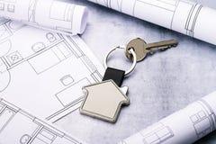 Дом как ключ обманывает и светокопии стоковое фото rf