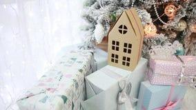 Дом картона подарка Сувенир на рождестве и Новом Годе акции видеоматериалы