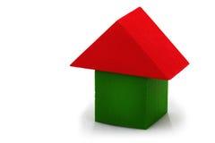 дом кирпича деревянная Стоковое Фото