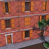 дом кирпича Стоковые Фото