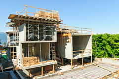 дом конструкции архитектора Стоковая Фотография