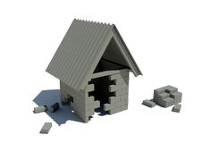 дом конструкции вниз Иллюстрация штока