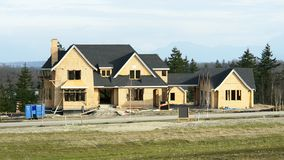 дом конструкции домашняя новая Стоковое фото RF