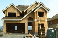дом конструкции домашняя новая Стоковое Фото
