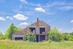 дом конструкции незаконченная Стоковые Изображения