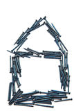 дом конструкции пригвождает сталь Стоковые Изображения