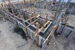 Дом конструкции, рамки металла подкрепления Стоковое Изображение RF