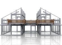 дом конструкции иллюстрация штока