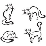 дом кота милый Иллюстрация вектора