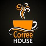 дом кофе капучино barman подготовляет Вектор элегантного †знака значка чашки кофе « бесплатная иллюстрация
