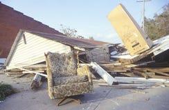 Дом лежит в руинах после урагана Андрюа стоковое фото