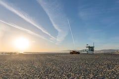 Дом личной охраны на пляже Венеции, Лос-Анджелесе стоковые изображения rf