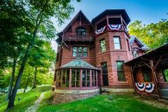 Дом Марка Твена, в Hartford, Коннектикут стоковые фотографии rf