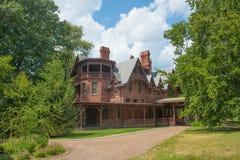 Дом Марка Твена, Hartford, Коннектикут, США стоковые фотографии rf