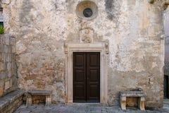 Дом Марко Поло в городке Korcula старом, Хорватии Стоковое фото RF