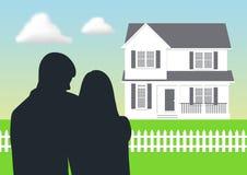 дом мечты иллюстрация штока