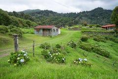 Дом мелкого крестьянского хозяйства в Коста-Рика стоковые фотографии rf