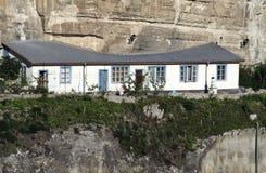 Дом монахов в монастыре пещеры Uspensky стоковая фотография rf
