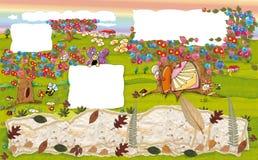 Дом мыши на дереве в осени Стоковое Изображение RF