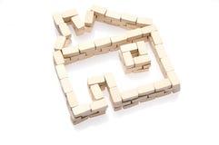 дом над белизной символа Стоковые Фото