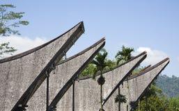 дом настилает крышу toraja стоковое изображение rf