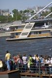 Дом на воде Отверстие навигации season-2018 в парке Gorky, Москве Стоковое фото RF