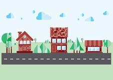 Дом на голубой предпосылке бесплатная иллюстрация