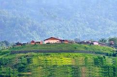 Дом на зеленом холме Стоковое Фото