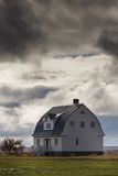 Дом на озере Myvatn в северо-западной Исландии Стоковые Фотографии RF