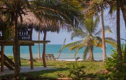 Дом на пляже стоковая фотография