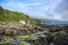 Дом на побережье Стоковое фото RF