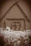 Дом на пляже Стоковые Фото