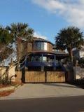 Дом на пляже Wrightsville, Северной Каролине Стоковое Изображение RF
