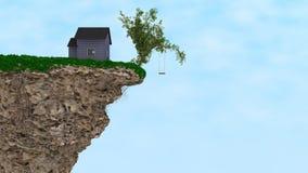 Дом на скале Стоковые Фотографии RF