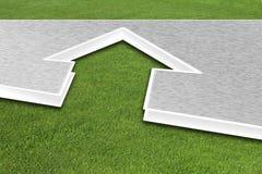 Дом на траве Стоковые Фото