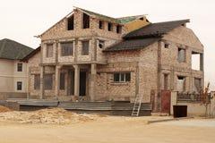 дом незаконченная Стоковая Фотография RF