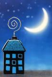 Дом ночи стоковые фотографии rf