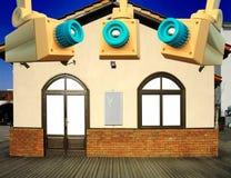 Дом обеспеченный колодцем Стоковое Фото