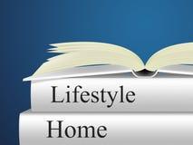 Дом образа жизни показывает дома квартиру и домочадец иллюстрация вектора