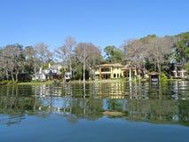Дом озера в парке зимы, FL Стоковое фото RF