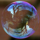 Рынок недвижимости пузырь мыла стоковое фото