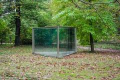 Дом отступления беседкы павильона парника внешнего парка стеклянный стоковое фото rf