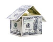 Дом от долларов Стоковая Фотография